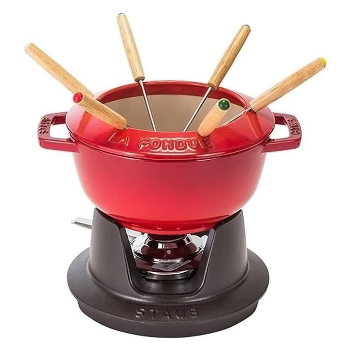 Service à fondue Rouge - Staub - Voir en grand