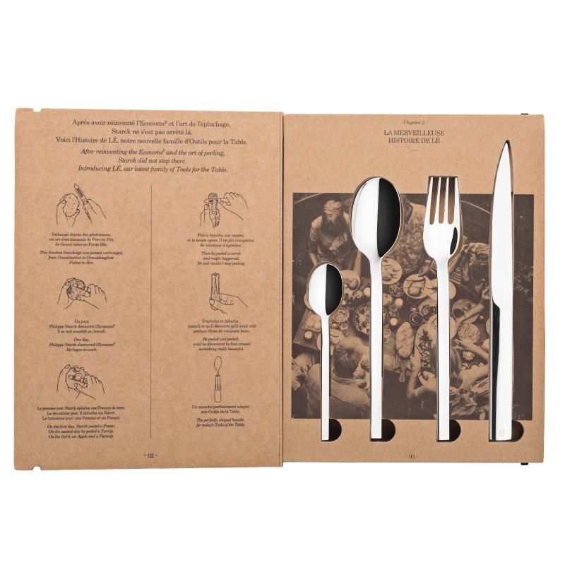 L E STARK -  ACIER - COFFRET 24 PIECES - DEGRENNE - COUVERTS - GALLAZZINI - Arts de la table et de la Cuisine - Voir en grand