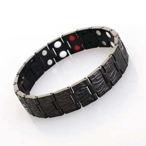 EFYOT - Bracelet Titanium Noir 4 EN 1 - BIJOUX MAGNETIQUES - SPIRITUS CORPUS PAU / Espace Bien Etre  - Voir en grand