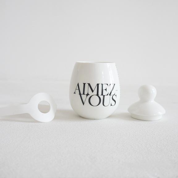 ½uf en céramique - blanc - Voir en grand