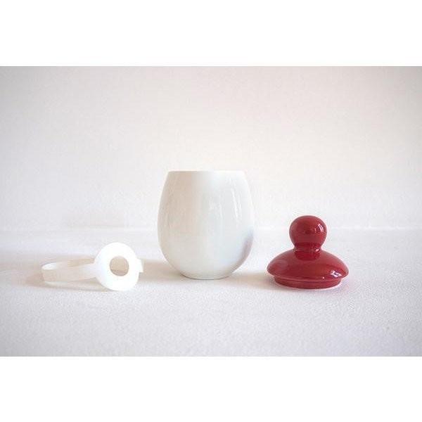 ½uf en céramique - rouge - Voir en grand