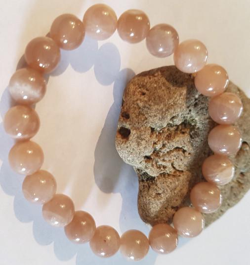 Pierres de soleil Pierres Naturelles perles 8 mm  - BRACELETS PIERRES SEMI PRECIEUSES - Espace Bien Etre - Aimants - Pierres - Produits Naturels - Voir en grand