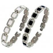 Bracelet magnétique Aphrodite blanc ou noir - BIJOUX MAGNETIQUES - SPIRITUS CORPUS PAU / Espace Bien Etre  - Voir en grand