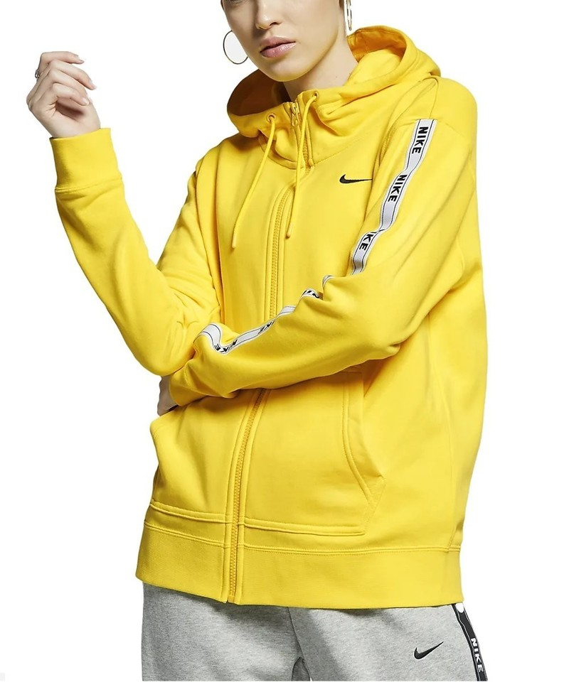 Sweat a capuche Femme Nike NSW HOODIE FZ LOGO TAPE jaune