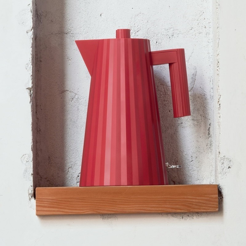 bouilloire plisse alessi rouge - Voir en grand