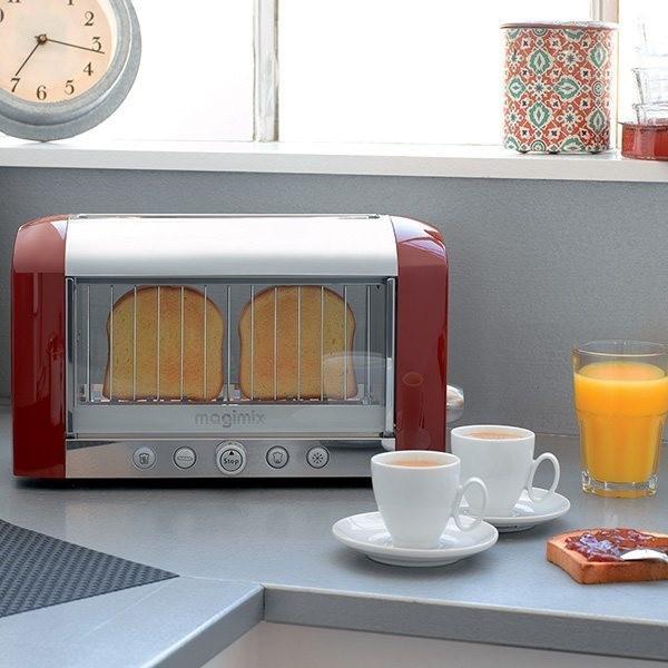 Toaster Vision Rouge, Ivoire et Noir Magimix - Electroménager  - Voir en grand