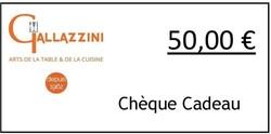 Chèque Cadeau Gallazzini - Voir en grand
