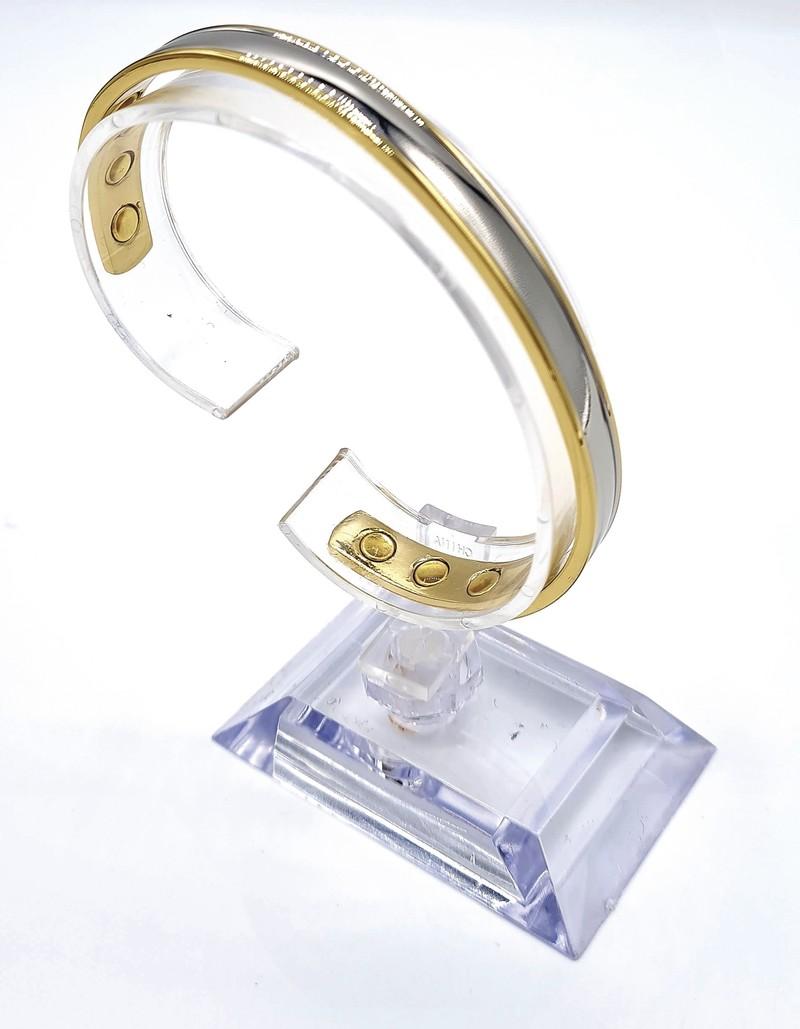 bracelet magnétique MJ 1001 2 TONS - BRACELETS MAGNETIQUES THERAPIE MAGNETIQUE - ALPHA BIEN ETRE - Voir en grand