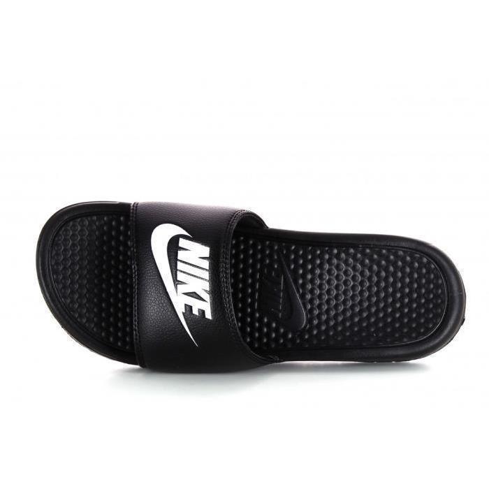 Claquettes Nike Benassi Just Do It Sandal noires