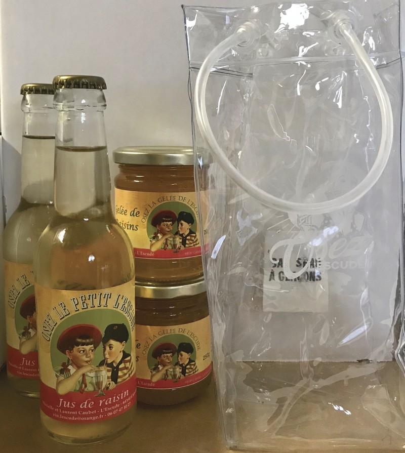 Assortiment de jus de raisin et de gelée - Les coffrets cadeaux - Osez L'Escudé - Voir en grand