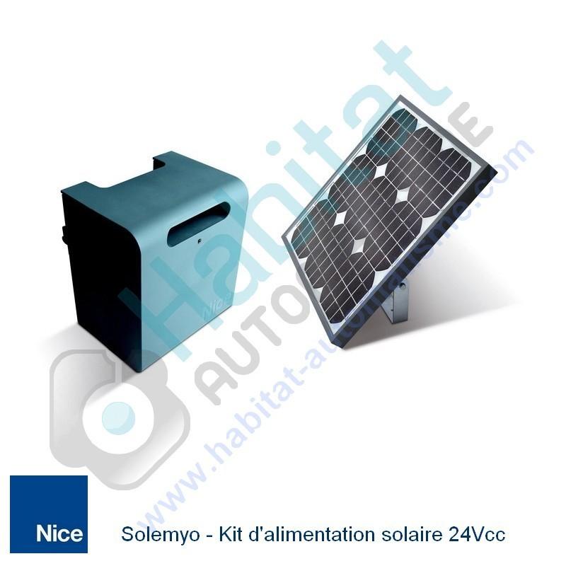 Contenu du Kit Solemyo, Kit d'alimentation solaire par Habitat automatisme - Voir en grand