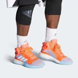 Chaussure de Basketball Homme Adidas Marquee Boost Bleu ciel /Orange - Voir en grand