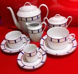 Paires tasses café, thé, déjeuner, théière, sucrier et crémier - Amelie - Deshoulières - Voir en grand