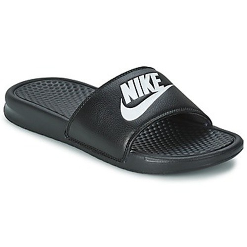 nice cheap cheapest good texture Claquettes Nike Benassi Just Do It Sandal noir ou bleu marin