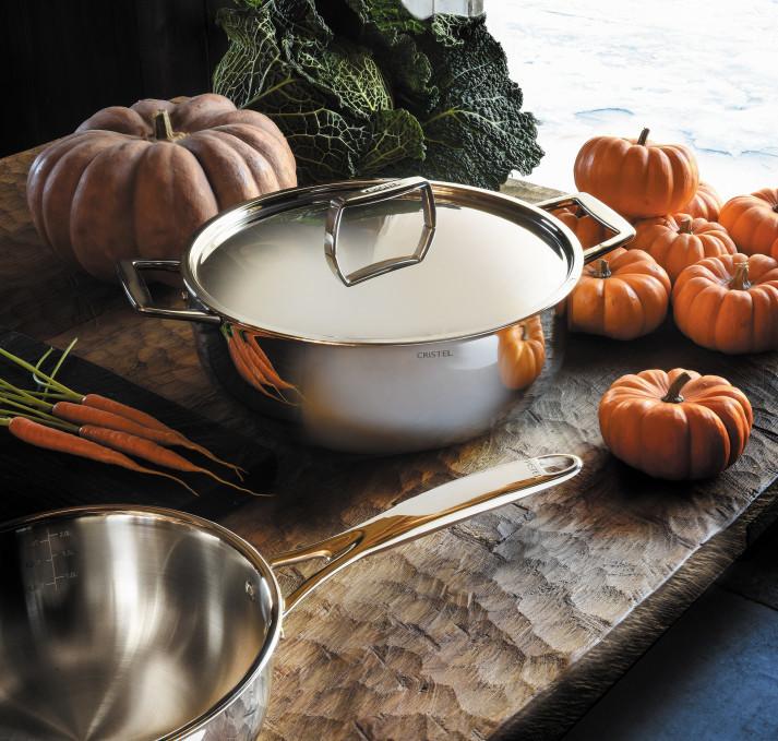 COUVERCLE EN INOX BRILLANT - CASTEL'PRO - CRISTEL - COUVERCLES - GALLAZZINI - Arts de la table et de la Cuisine - Voir en grand