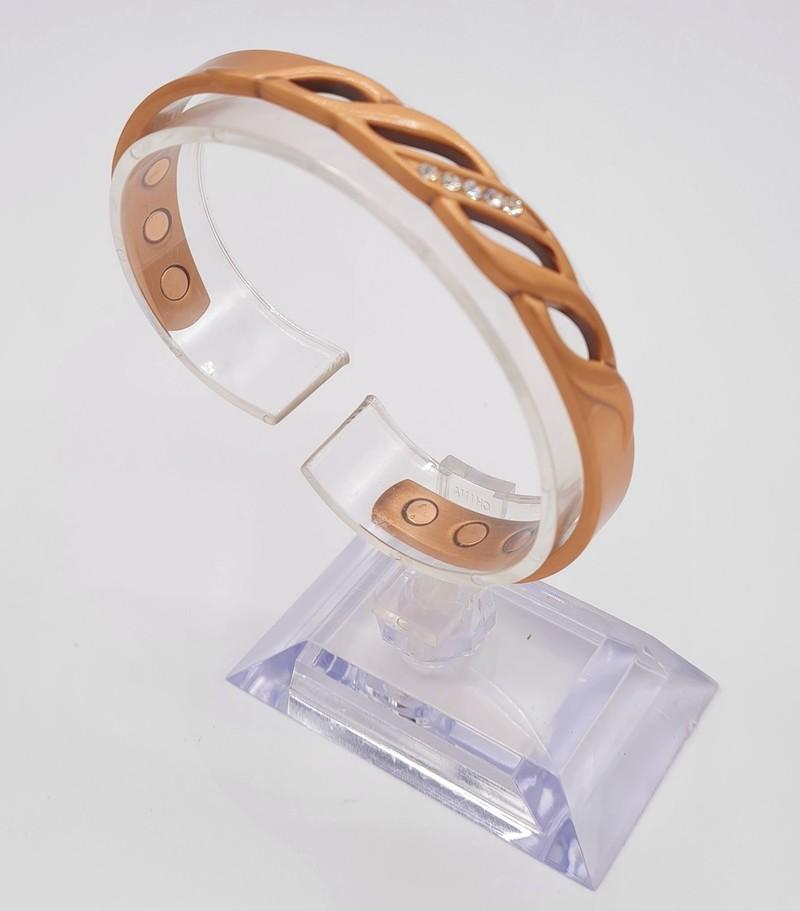 bracelet magnétique MJ 1067 STRASS - BRACELETS MAGNETIQUES THERAPIE MAGNETIQUE - ALPHA BIEN ETRE - Voir en grand