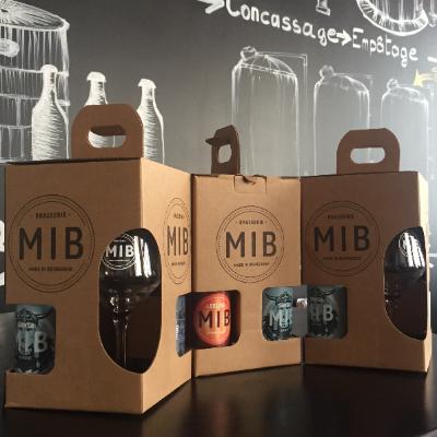 Coffret 3 bière + 1 verre -  - Brasserie MIB - Voir en grand