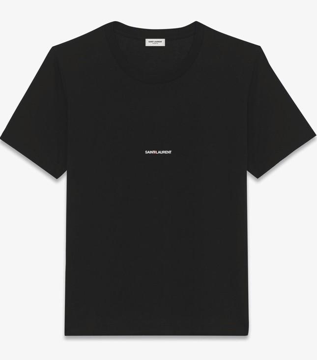 T-Shirt Saint Laurent Homme Noir - Saint Laurent - 9 Boulevard - Voir en grand