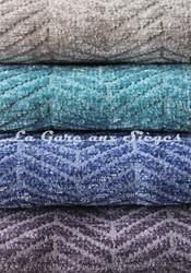 Tissu Casal - Acrobate - réf: 16184 - Coloris: 60 Argent - 10 Ciel - 11 Bleuet - 89 Lavande - Voir en grand