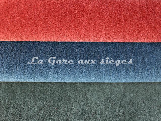 Tissu Chanée Ducrocq - Alpaga - Coloris: 2811 Corail - 2810 Bleu de Prusse - 2813 Eucalyptus - Voir en grand