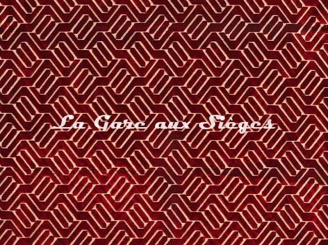Tissu Camengo - Douves - réf: 4139.0467 Rouge - Voir en grand