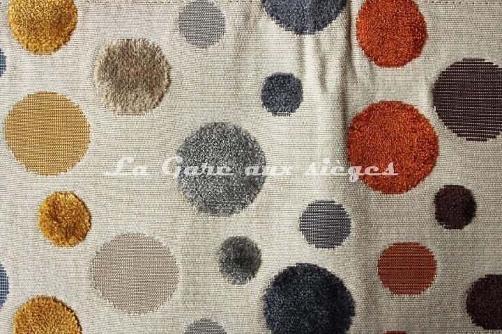 Tissu Deschemaker - Arlequin - réf: 103844 - Coloris: Clémentine - Voir en grand