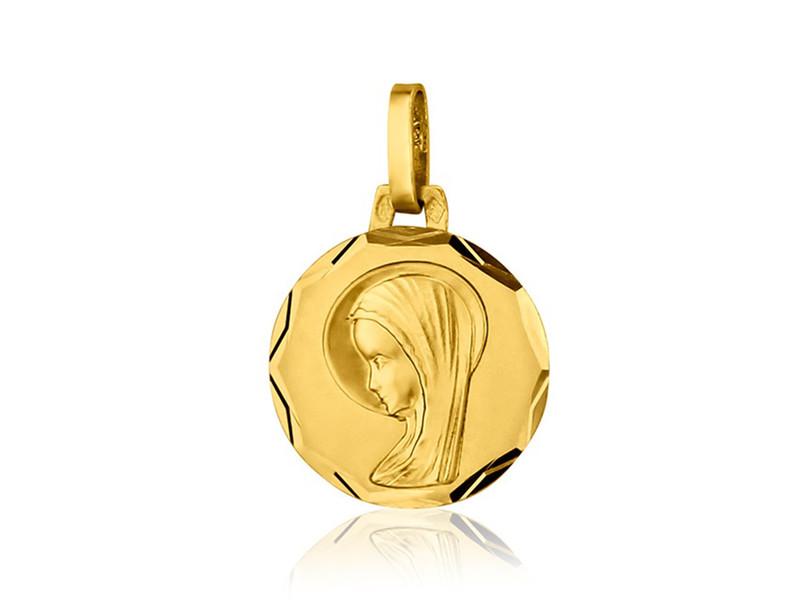 Médaille Ste Vierge fantaisie 14 mmOr jaune 18k 1.00 grs 146 ¤ - Voir en grand