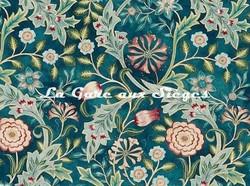 Tissu William Morris - Wilhelmina - réf: 226604 Teal ( détail ) - Voir en grand