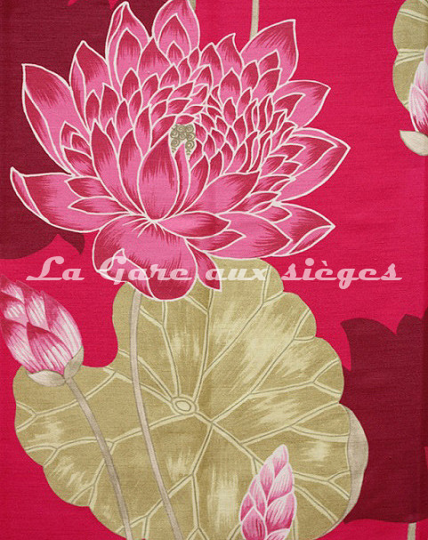 Tissu Bélinac - Lotus - réf: 1023 - Coloris: 02 Rose - Voir en grand