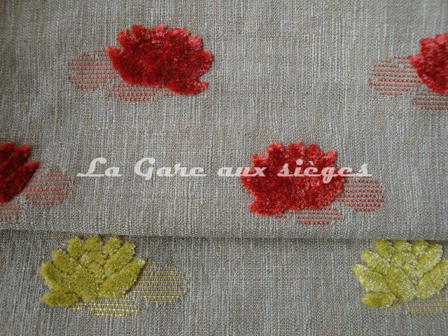 Tissu Jéro - Mascotte - réf: 9508 - Coloris: 1737 Capucine & 1738 Citrine - Voir en grand