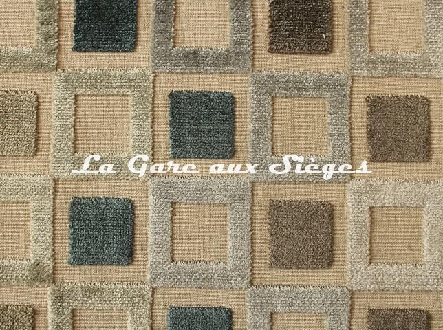 Tissu Baker Lifestyle - Square Dance - réf: PF50425.2 Indigo - Voir en grand