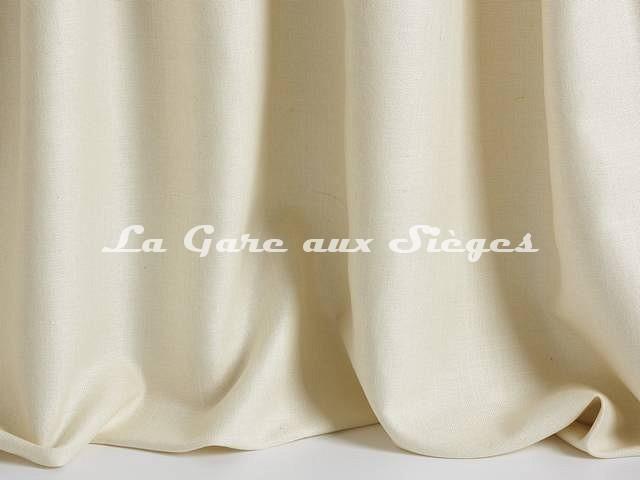 Tissu Pierre Frey - Soie Faustine - réf: F3275-001 Crème - Voir en grand