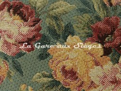 Tissu Chanée Ducrocq - Newcastel - réf: 8529 Bleu ( détail ) - Voir en grand