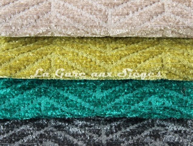 Tissu Casal - Acrobate - réf: 16184 - Coloris: 74 Lin - 32 Pomme - 12 Turquoise - 15 Tempête - Voir en grand