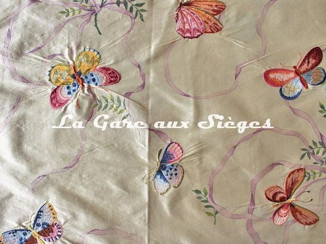Tissu Pierre Frey - Miss Li - réf: F2635.001 Rose Mauve - Voir en grand