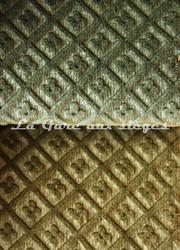 Tissu Chanée Ducrocq - Velours gaufré Matignon - Coloris: 988 Jade - 989 Feuillade