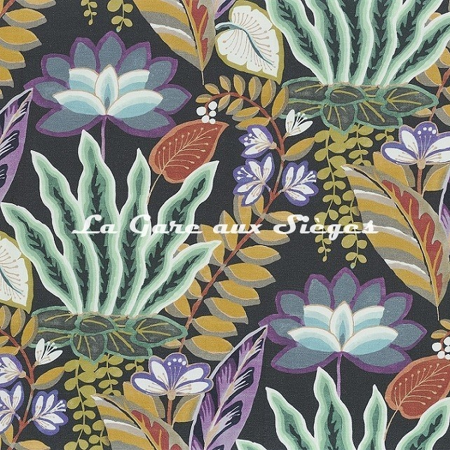 Tissu Camengo - Hawaii - réf: 4436.0311 Purple - Voir en grand
