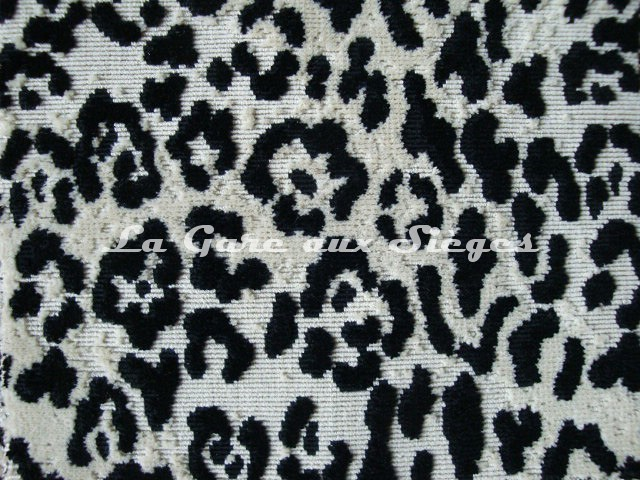 Tissu Pierre Frey - Jungle - réf: F2861-001 Noir - Voir en grand