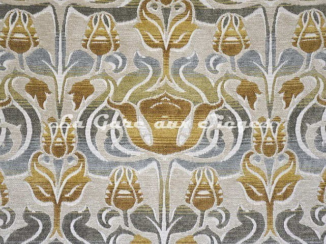 Tissu Casal - Velours Tiffany - réf: 16207-1072 Ciel Ivoire - Voir en grand