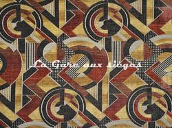 Tissu Casal - Sonia - réf: 16208.7555 Rouge Marron - Voir en grand