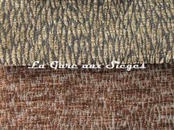 Tissu Pierre Frey - Colette - réf: F3115 - Coloris 015 Fumée & 016 Fauve - Voir en grand
