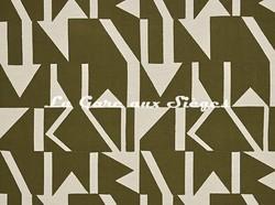 Tissu Pierre Frey - Wokabi - réf: F3355.001 Kaki - Voir en grand