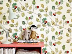 Papier peint Villa Nova - Ladybugs - Voir en grand