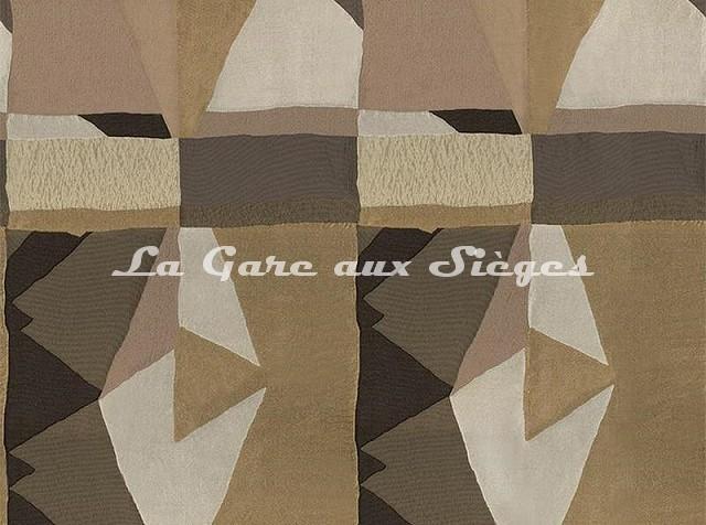 Tissu Casamance - Fantasque - réf: 3797.0236 Acier/Noir de lune - Voir en grand