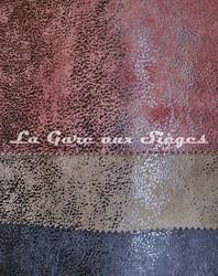 Tissu Casal - Cuir vieilli - Réf: 5080 - Coloris: 55 Moka - 35 Sapin - 0 Ebène - Voir en grand