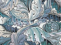 Tissu House of Hackney - Acanthus - Coloris: Aegean Blue/Off-White