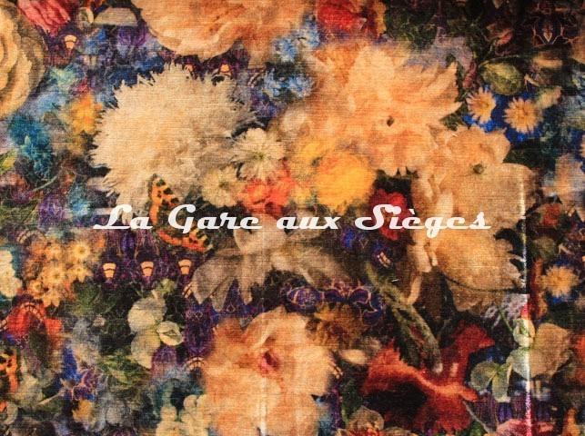 Tissu GP & J.Baker - Royal Garden Velvet - réf: BP10642.2 Sapphire ( détail ) - Voir en grand