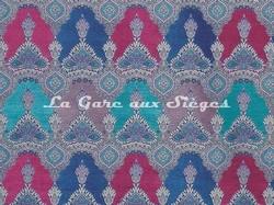 Tissu Osborne & Little - Haveli - réf: F6947-03 Turquoise/Lilac/Blue