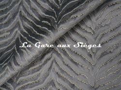 Tissu Jim Thompson - Tigris velvet - réf: J3725/001 Pewter - Voir en grand