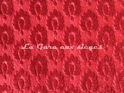 Tissu Chanée Ducrocq - Velours gaufré Suffren - Coloris: 371 Pourpre - Voir en grand